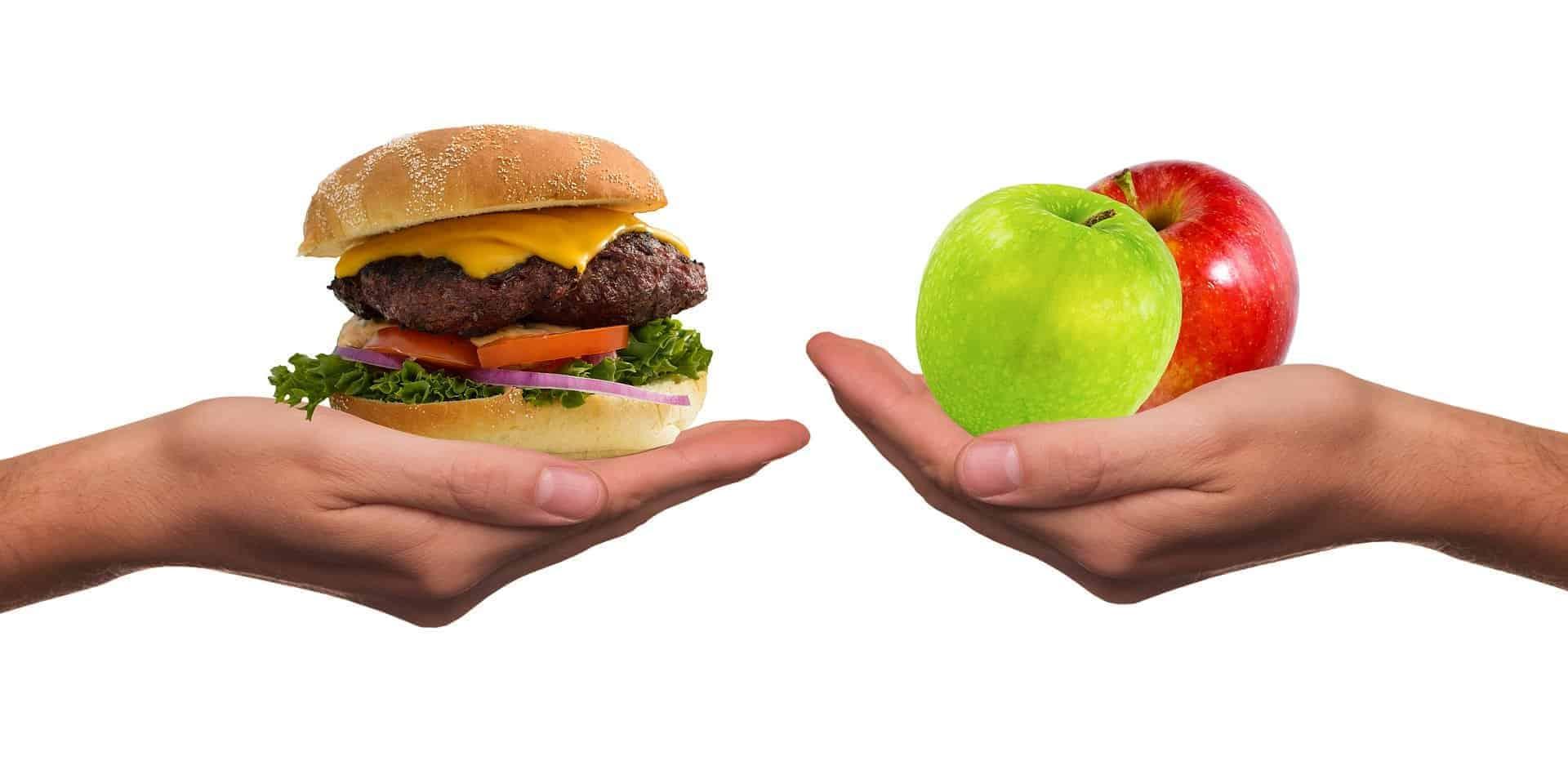 Burger vs an apple