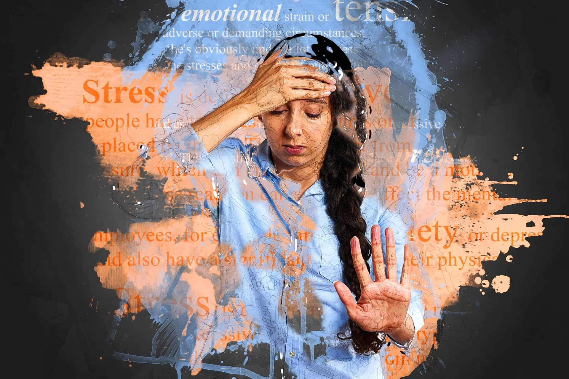 Stressed woman