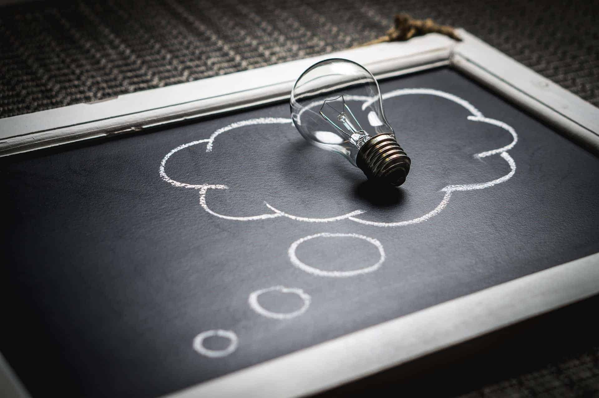 thought light bulb