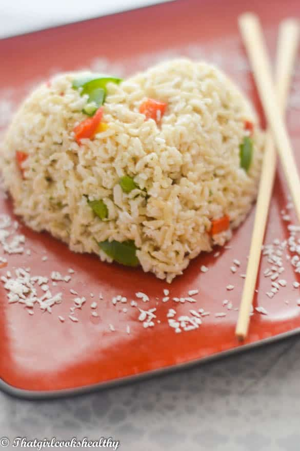 Easy coconut rice recipe - That Girl Cooks Healthy