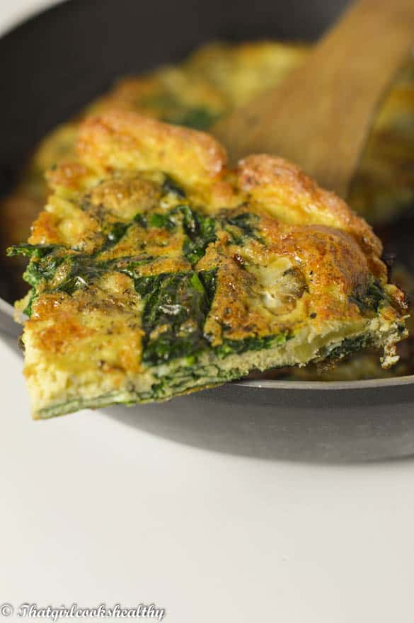 Spinach and mushroom omelette3