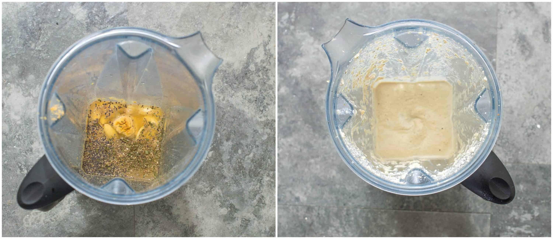 Vegan cream cheese steps 1-2