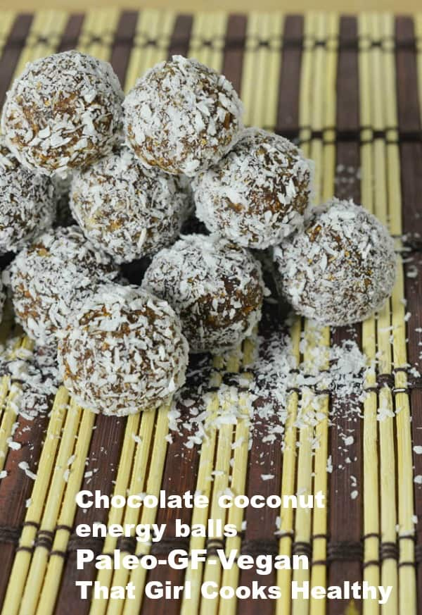 chocolate coconut energy balls