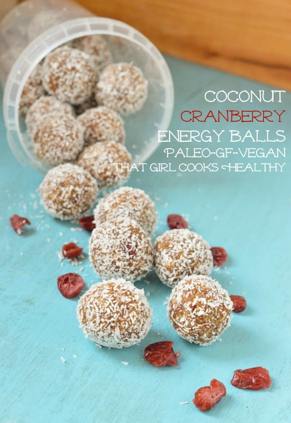 coconut cranberry energy balls