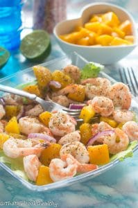 Prawn and mango salad (Low carb, GF, keto, paleo)