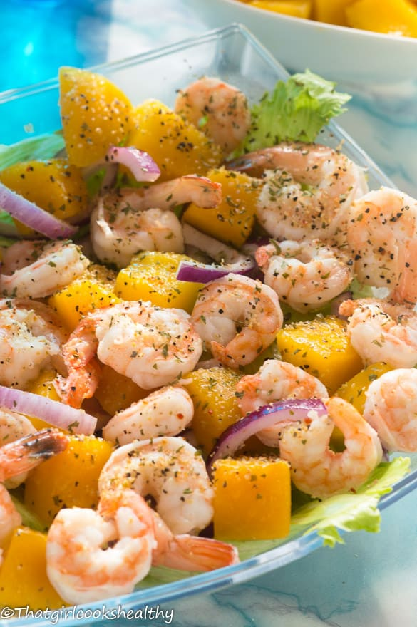 Cold mango prawn salad2