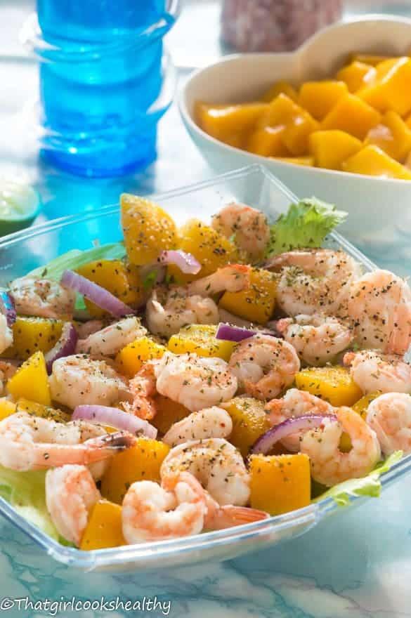 Cold mango prawn salad5