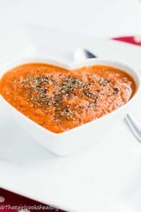 Quick raw tomato basil soup