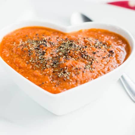Quick raw tomato basil soup