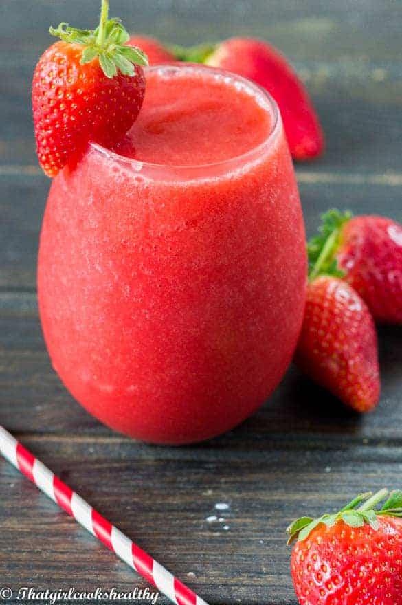 Frozen strawberry slushie