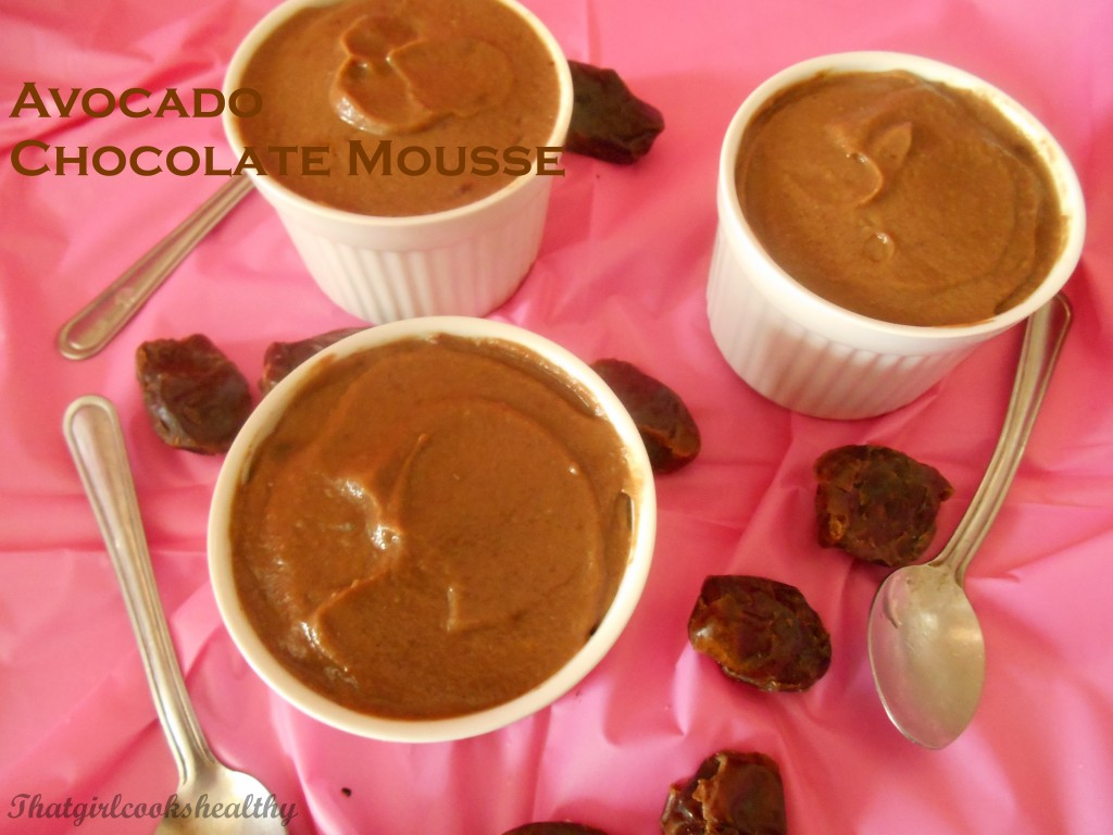 Avocado chocolate mousse recipe - That Girl Cooks Healthy