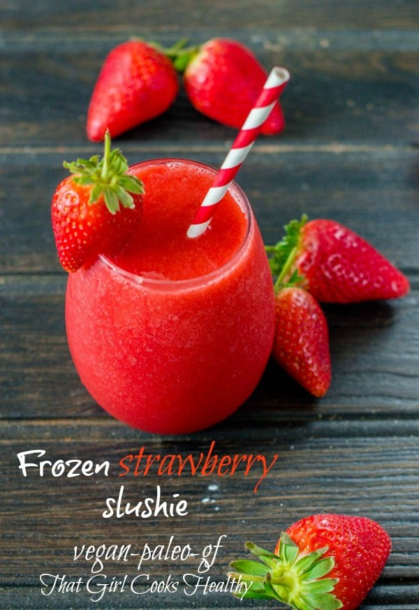frozen strawberry slushie
