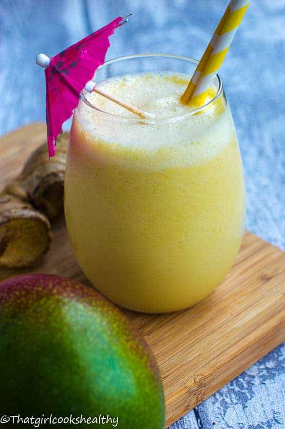 mango ginger snap smoothie
