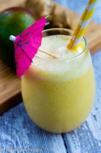Mango ginger snap smoothie