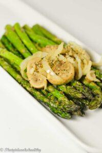 Asparagus on a foil grill