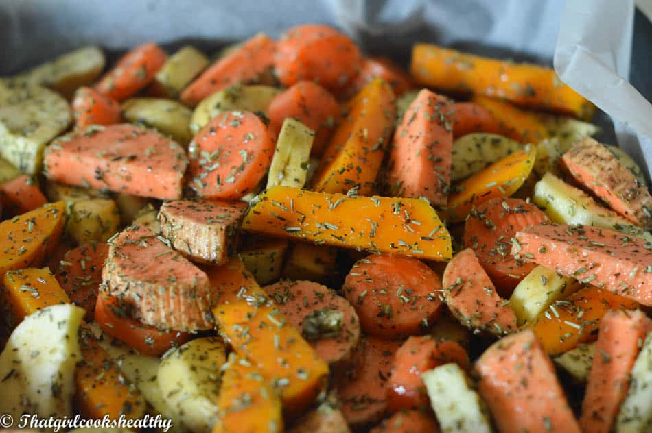 Roasted vegetable platter recipe prep