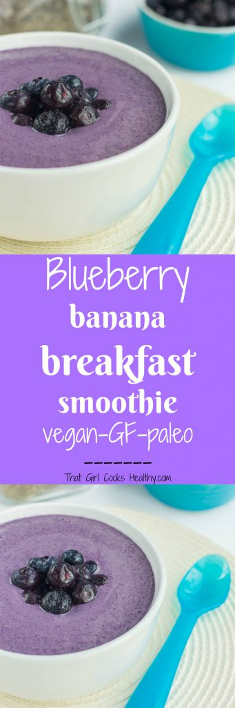 blueberry banana breakfast smoothie