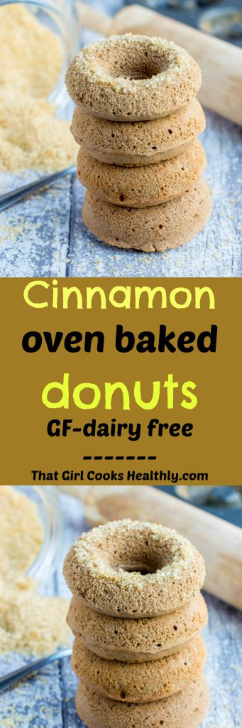 Cinnamon oven baked donuts