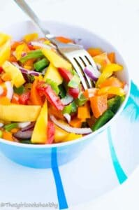 Mango salad3 199x300 - Mango salad recipe with a ginger lime dressing