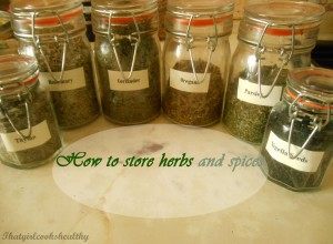 Quick tips on how to store herbs and spices