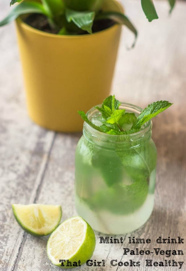 mint lime drink