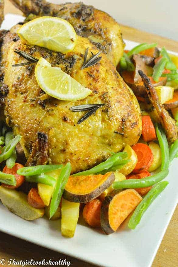 Lemon rosemary roasted chicken