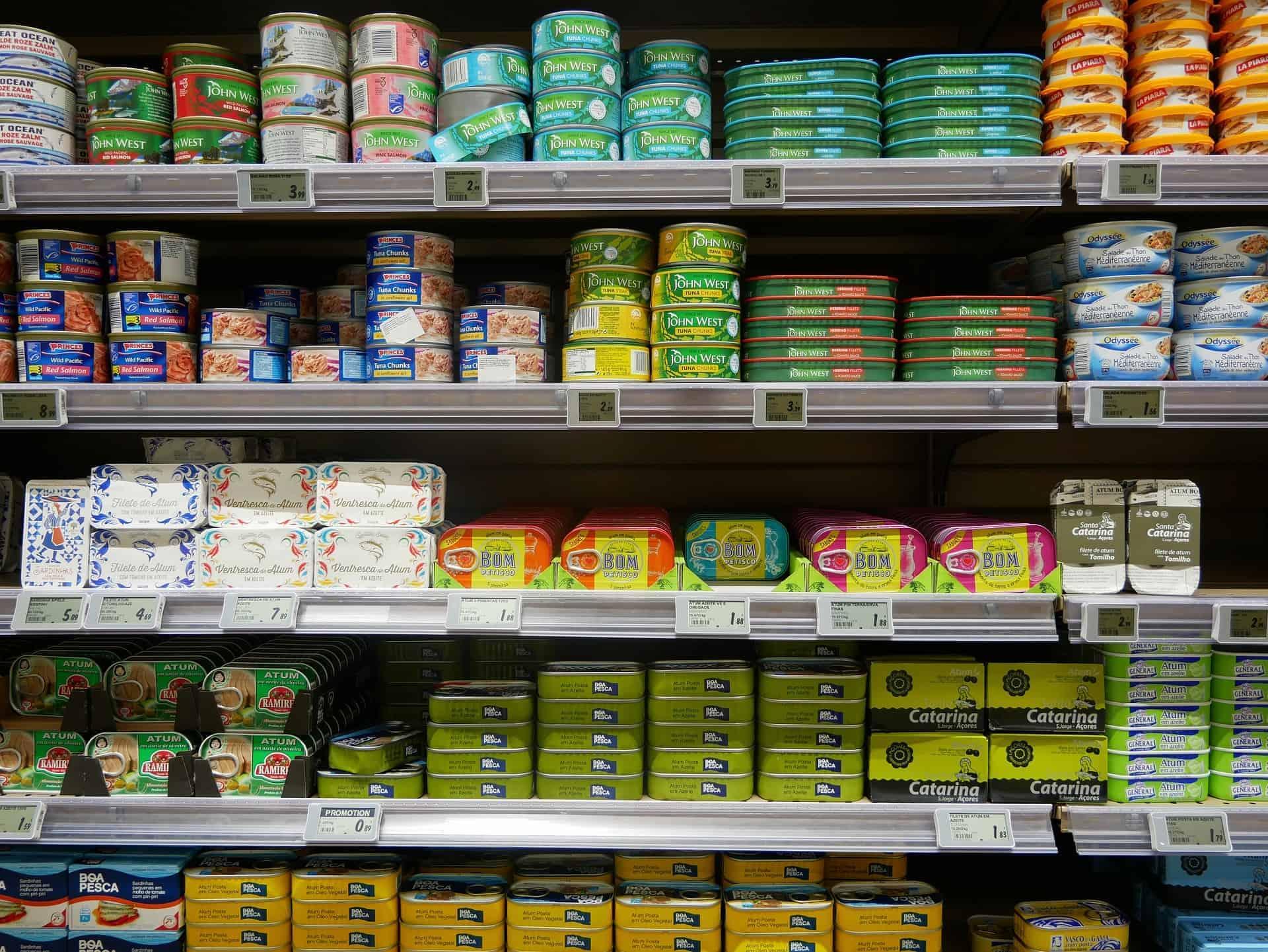 shelf of food