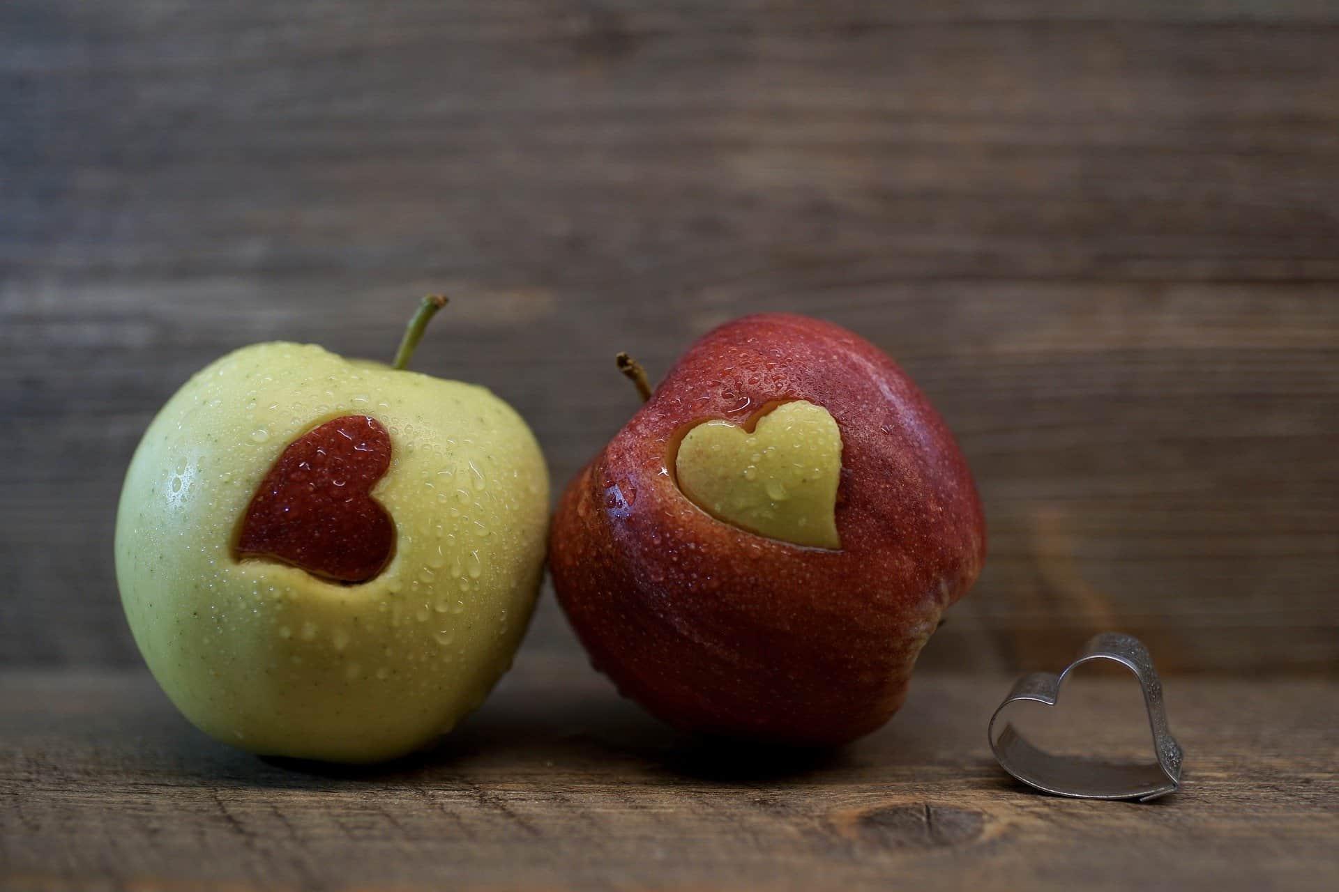 Fruit in a heart