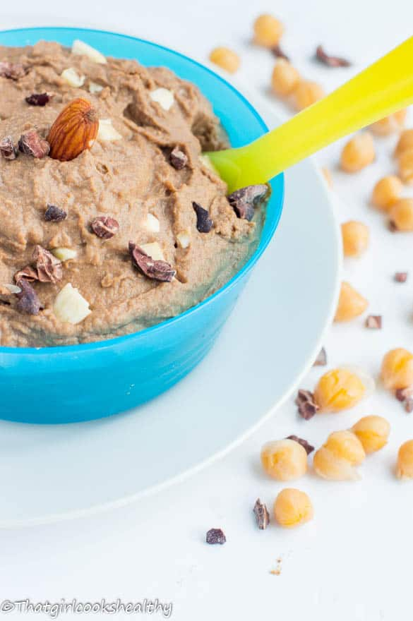 chocolate cookie dough hummus