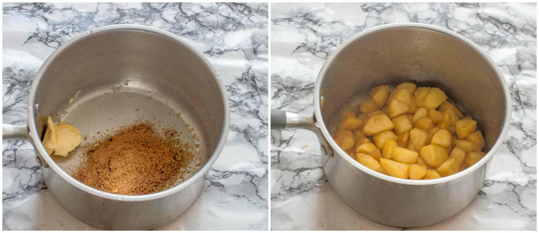 Gluten free apple crisp steps 1-2