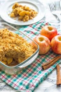 Delicious gluten free apple crisp