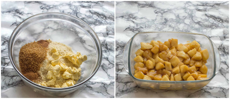 gluten free apple crisp steps 3-4