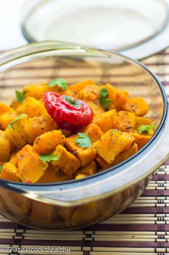Caribbean pumpkin curry 1 - Caribbean pumpkin curry (vegan)