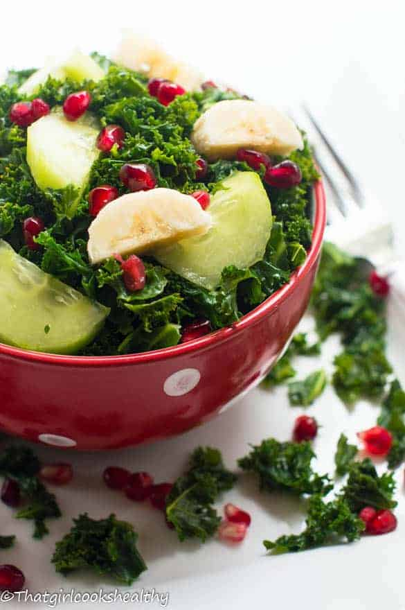 Curly kale fruit salad