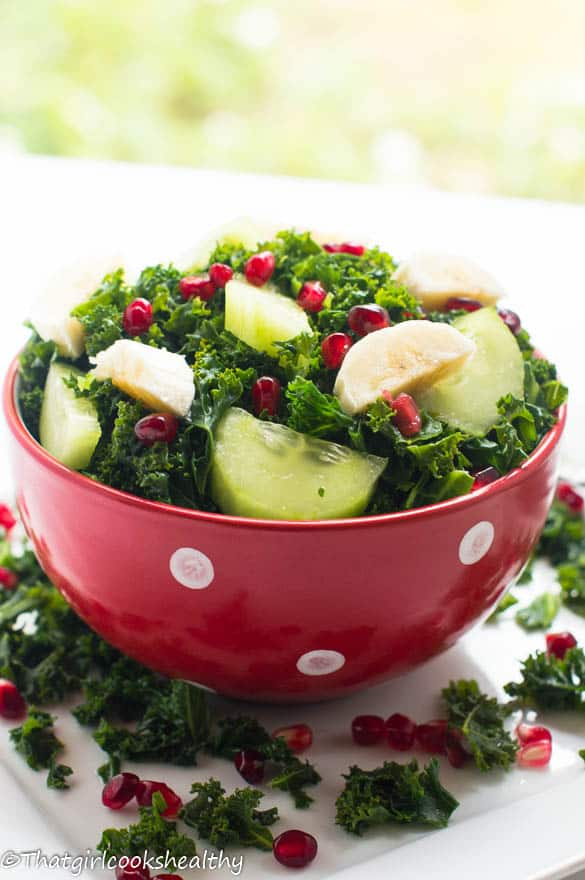 Curly kale fruit salad2