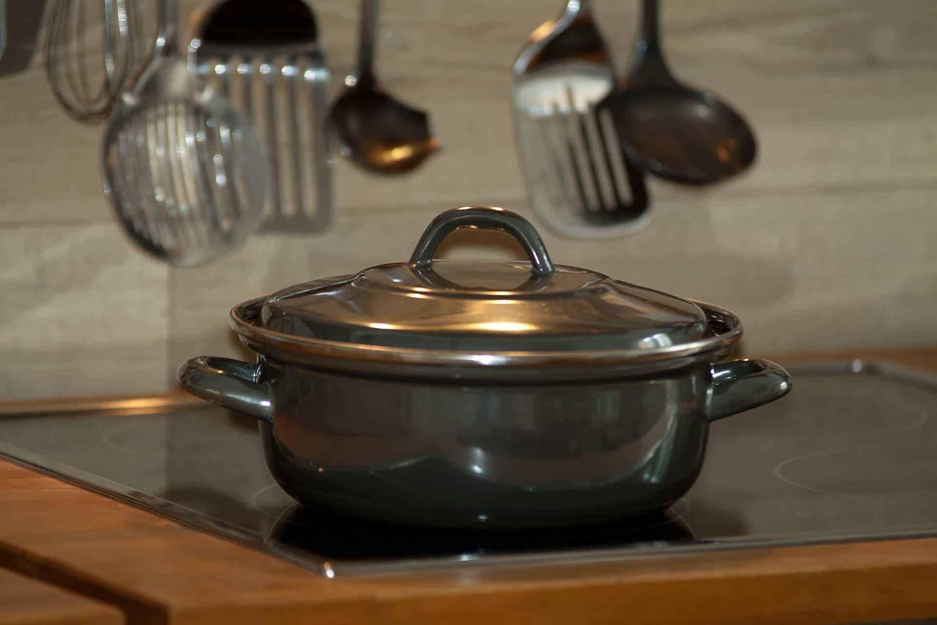 Gray saucepan