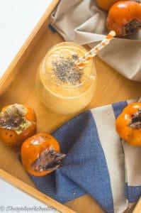 Persimmon smoothie (Dairy free, vegan)
