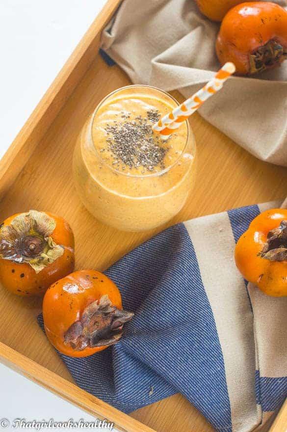 Persimmon smoothie3 - Persimmon smoothie recipe