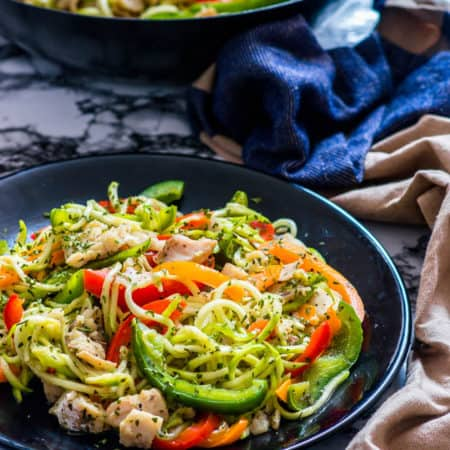 Low carb vegetable fish stir fry