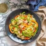 Vegetable fish stir fry