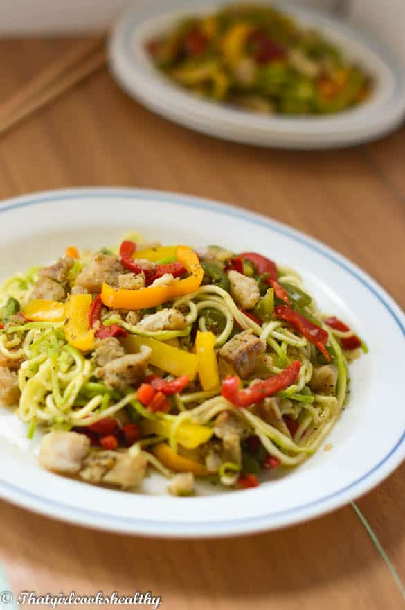 Zoodle fish stir fry1