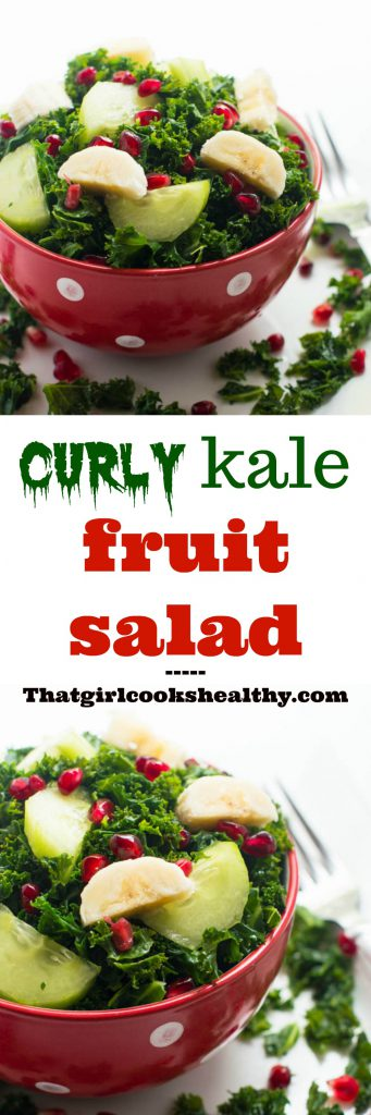 curly kale fruit salad collage 341x1024 - Curly kale fruit salad (vegan)
