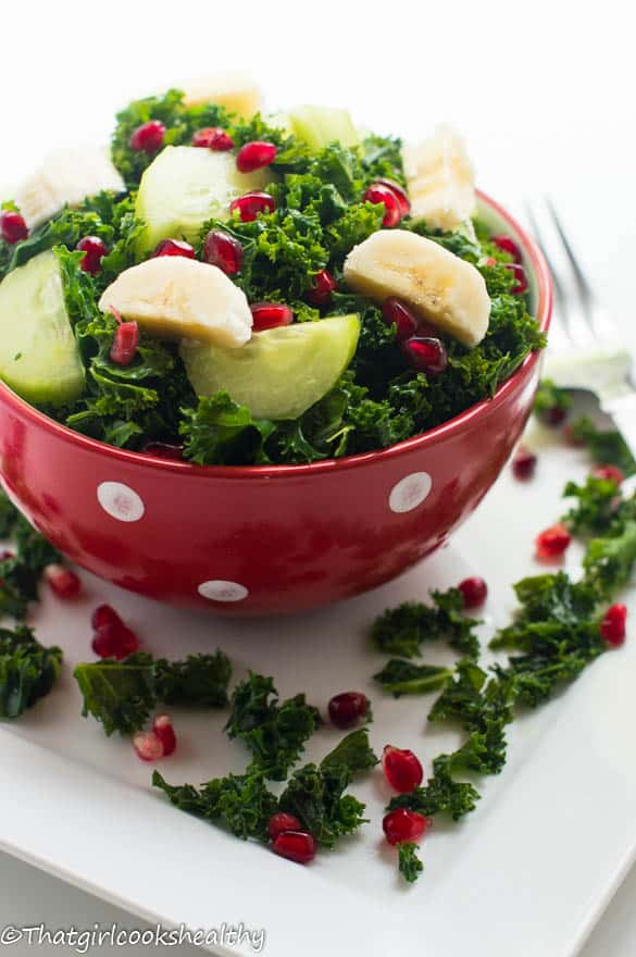 curly kale fruit salad3