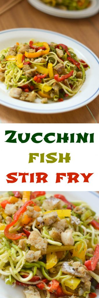 zucchini fish stir fry collage 341x1024 - Fish stir fry zoodles recipe