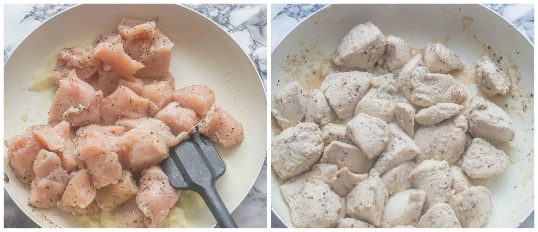 Grenadian nutmeg cinnamon chicken steps 7-8