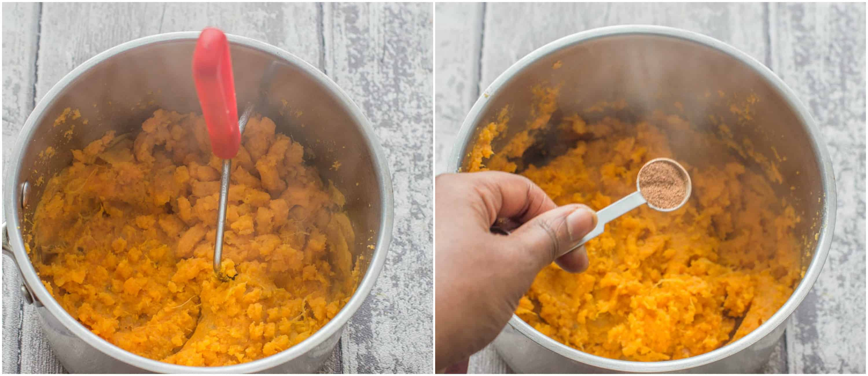 Easy mashed sweet potatoes steps 1-2