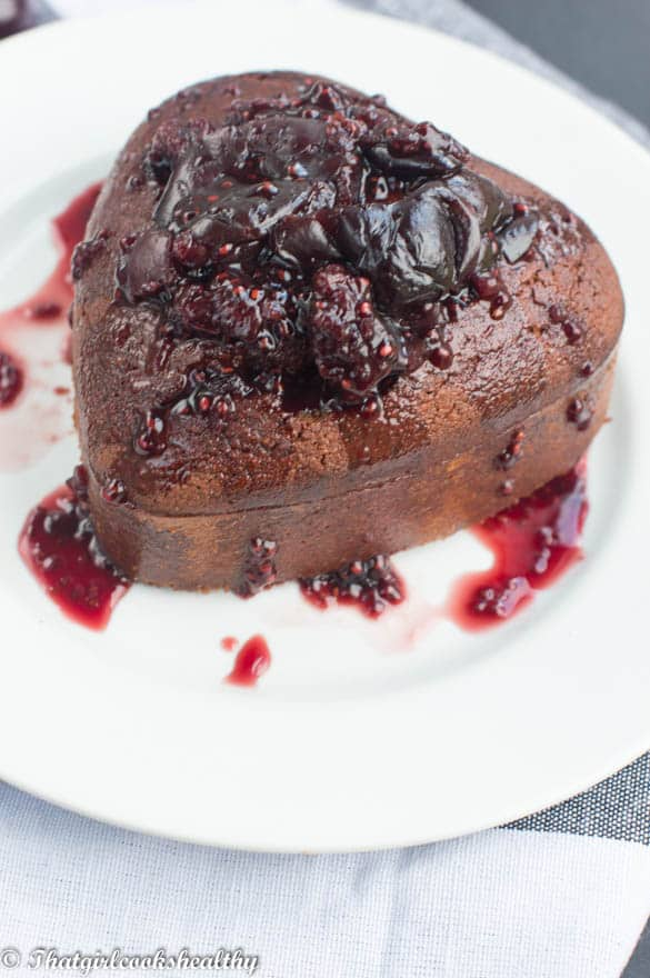 Flourless Chocolate-Almond Cake With Almond-Cherry-Caramel ...