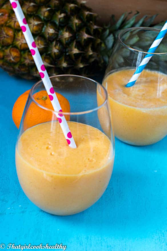 persimmon, pineapple and orange smoothie2