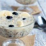 Overnight chia seed oatmeal 150x150 - Blueberry banana overnight oats