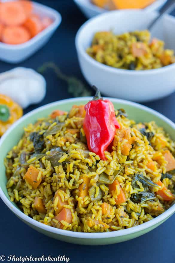Pumpkin and turmeric rice